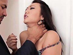 Tied Asian Teen Gets Cum