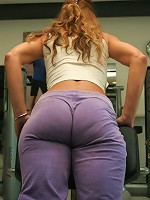 Mature ladies in the gym getting sweaty and naked