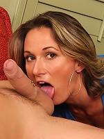 Misty Law shows off her excellent oral skills.