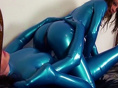 Sweet Ladies In Latex Are Sitting On The Faces