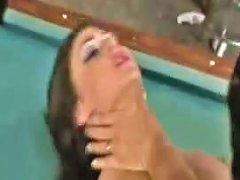 Black Latex Jessica Jaymes Fucks On A Pool Table