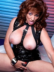 A busty milf gets her pussy rammed by a huge cock