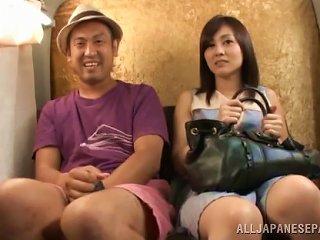 Hot Japanese Babe Masturbating Next To A Total Stranger