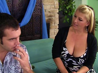 Mom Invites The Gardener In To Pound Her Hairy MILF Pussy