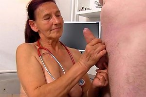 Dr Linda Loses Self Control At The Sight Of A Large Cock