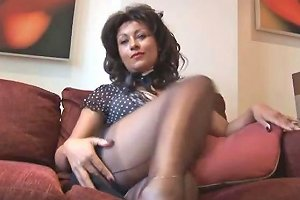 Danica Collins On High Heels Showing Her Pussy And Her