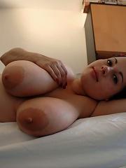 Busty Babe Strips