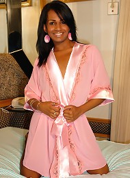 Brazilian tranny Grazielly might look all sweet and innocent, but as soon as she pulls down her panties, you know shes ac