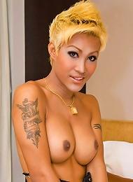 Asian shemale Patty in fancy...