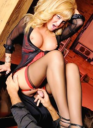 Irresistible transsexual teasing a guy with her feet