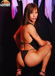 Stunningly gorgeous tgirl gets naked