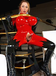 Sabrina is the princess of latex no tranny wears it better