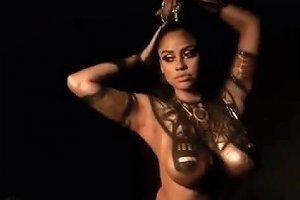 Ebony Cos Play Model Cleopatra Body Paint Free Porn 23