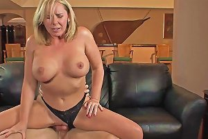 Busty MILF Takes Care Of A Fat Dick